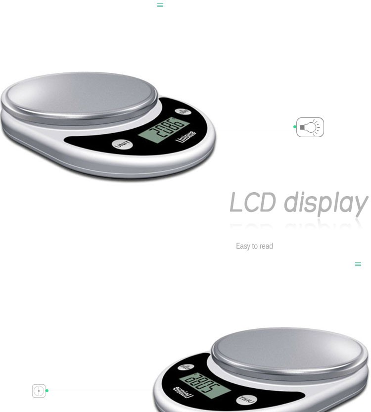 Ozeri factory Pronto Digital Multifunction Kitchen and Food Scale with LCD display