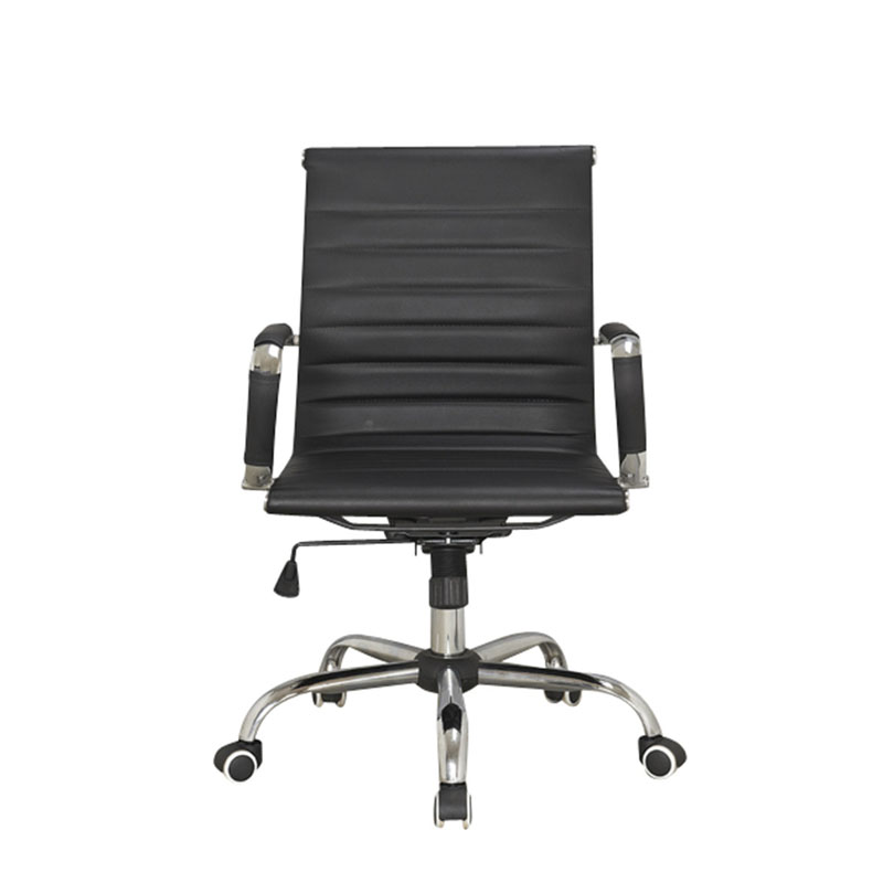 High Quality Leather Office Chair Metal Task Chair High Back Meeting Chair With wheels