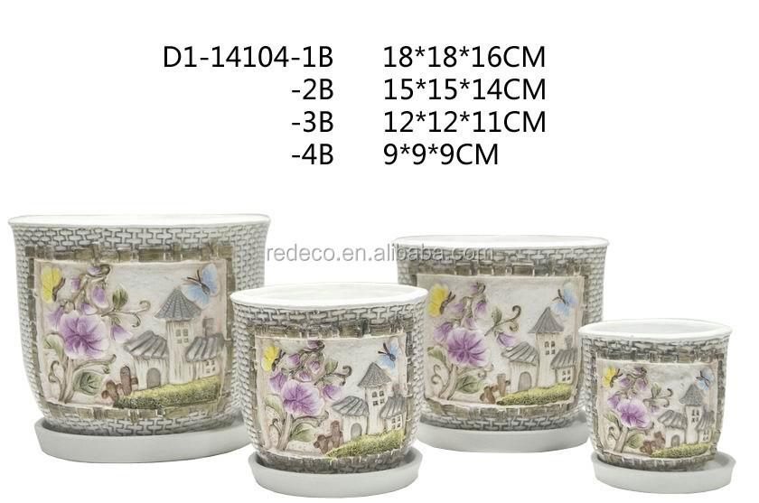 Decorative pottery plant pot wholesale