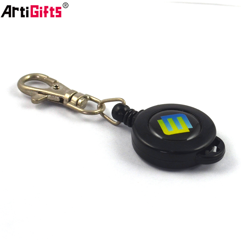 Promotion High Quality Plastic retractable badge holder with custom logo