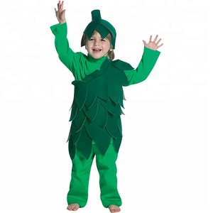 Wholesale Halloween Carnival Party Vegetables Suit Cosplay Fancy Dress Green Vegetable Mascot Costume Character For Children