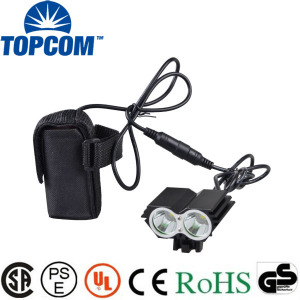 LED Rechargeable 2000 Lumen Bike Front Light For Outdoors