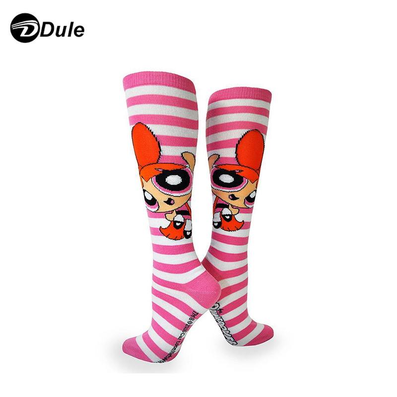 DL-I-0245 cotton compression socks with cartoon
