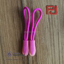 New design injection outdoor clothing rope PVC zip puller