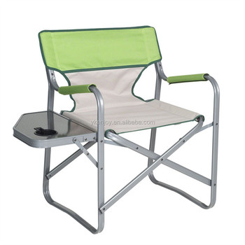 Camping Aluminum Folding Tall Director Chair With Side Table