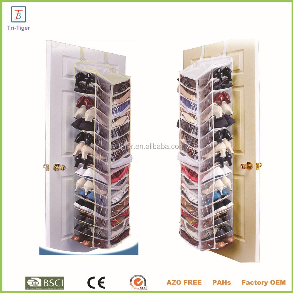 Sobre La Puerta Organizador, Clear PVC 30 Bolsillo Organizador Colgante Del  Zapato