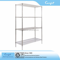 Galvanized + powder coated wire shelving for cold rooms in catering facilities and other food storage