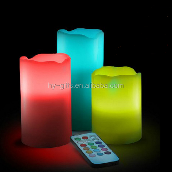 ivory wax operate flameless wholesale led remote controller candle