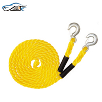 nylon emergency tool 8000lbs 4m 4 ton car tow rope auto trailer tow fluorescent traction rope stretch rope tow strap