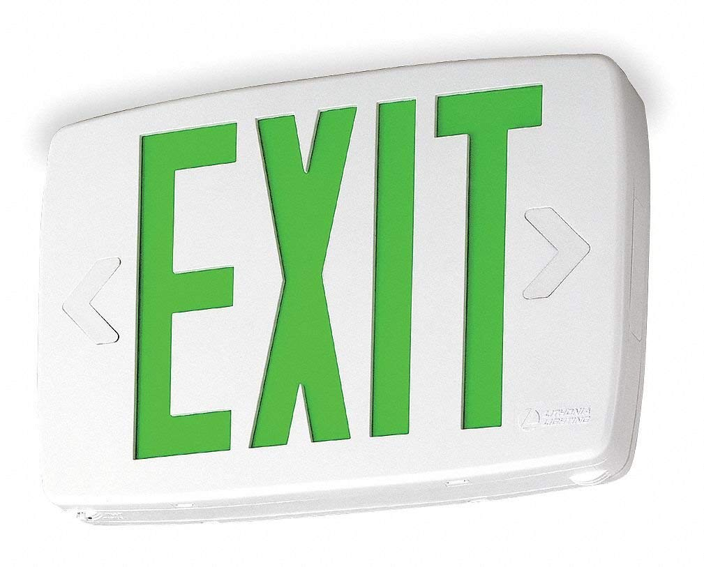 ACUITY LITHONIA Thermoplastic LED Exit Sign/ Battery Backup