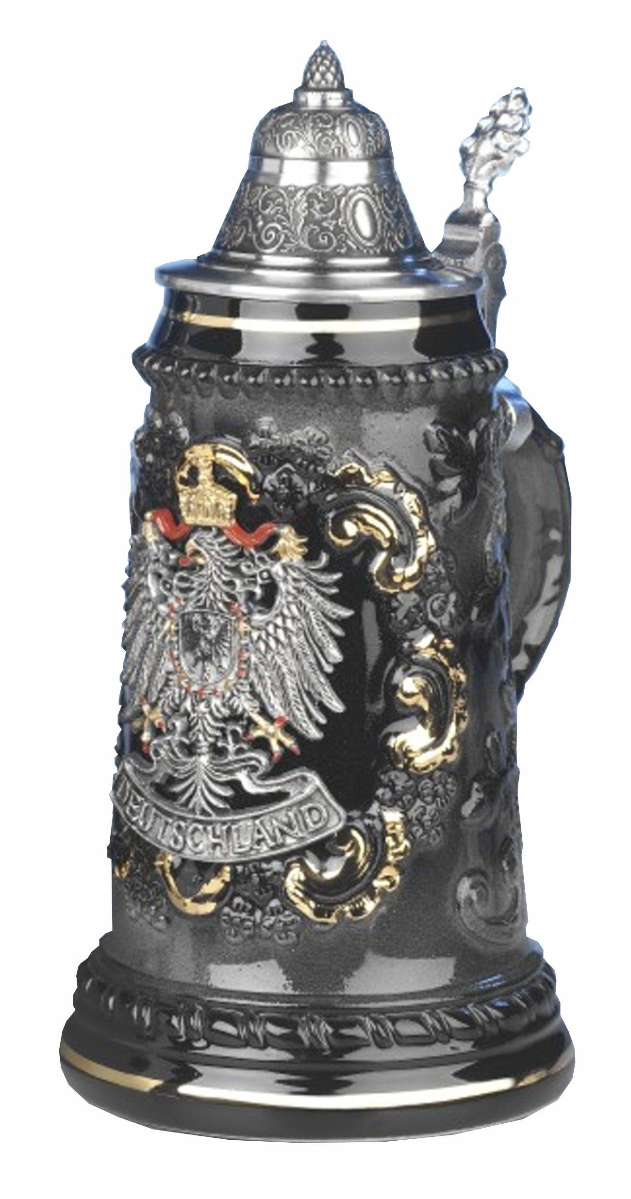 Beer Stein pewter Deutschland eagle Stein 0.5 liter tankard, beer mug