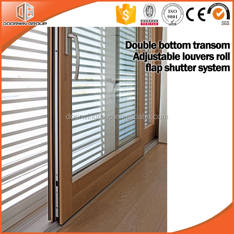 Ultra large lift and sliding door with fixed sash and fixed glass light in the middle by china supplier