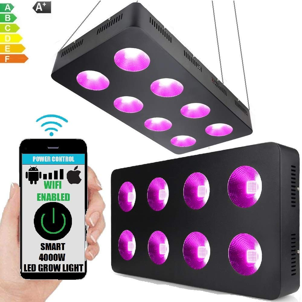 WiFi 4000W LED Smart 540 COB Reflector Chip Grow Light Panel for Indoor Hydroponic Cultivation