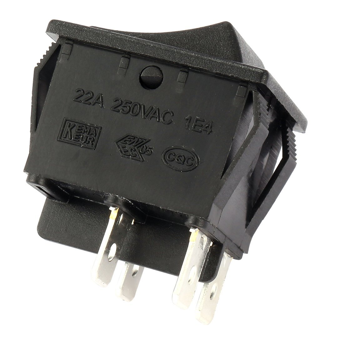 get quotations · uxcell 4 terminal 2 position i/o boat wiring dpst rocker  switch black on off