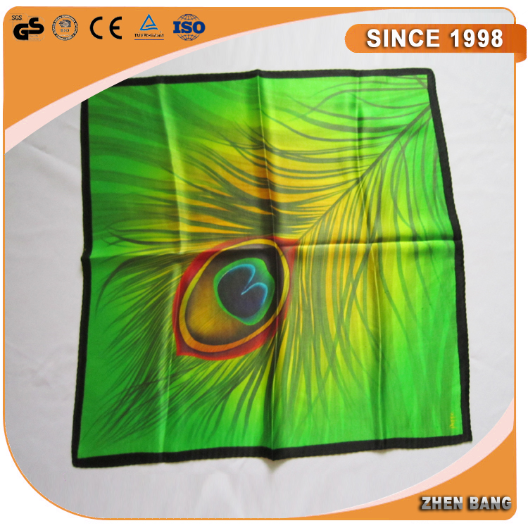 Custom fashionable colorful woman silk scarf wholesale own design 100% digital printing silk scarf factory china