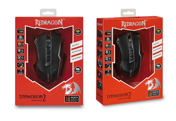 สูง-ended Redragon M802 ABS muliti-มือใหญ่ Ergonomic Mouse