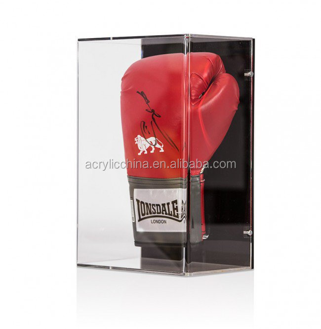 Wall Mountable Clear Acrylic boxing glove Display Case