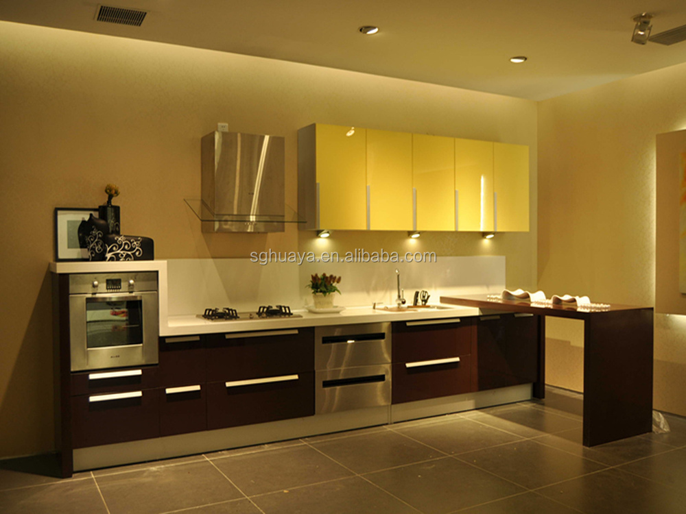 Kitchen Cabinet Display With Built In Handle Style