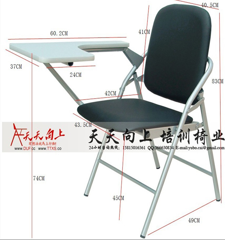 Folding Chair Desk study chairs with writing pad - destroybmx