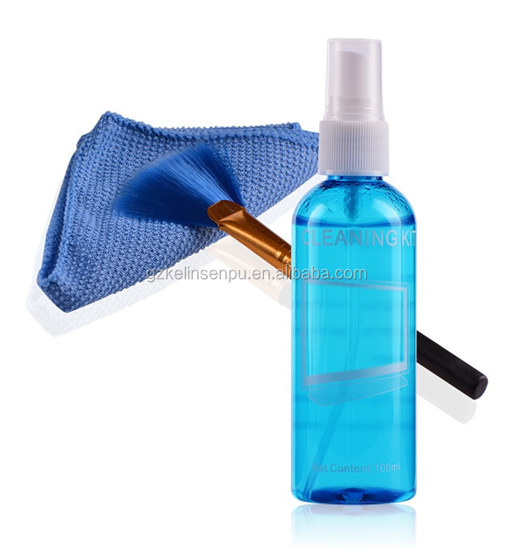 Lcd Camera Lens Screen desktop cleaning Spray kit/microfiber computer cleaner