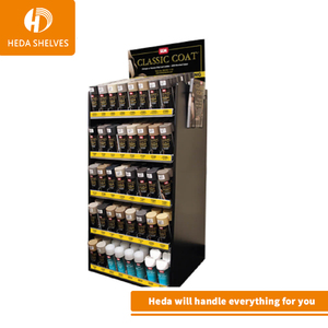 Attractive Movable Metal Freestanding Motor Products Retail Store Engine Lubricating Oil Display Rack