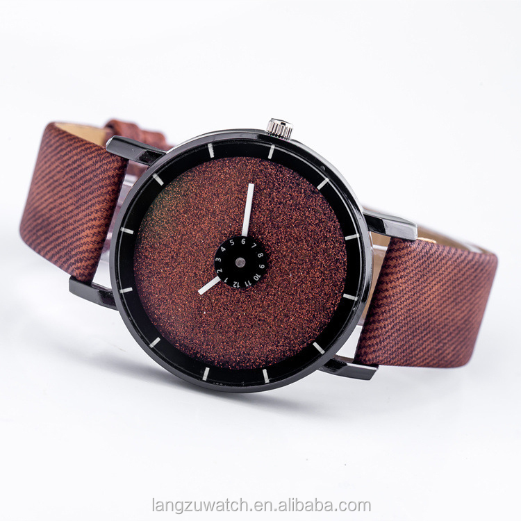 cheap perfect high quality custom made dials leather watch for men or women