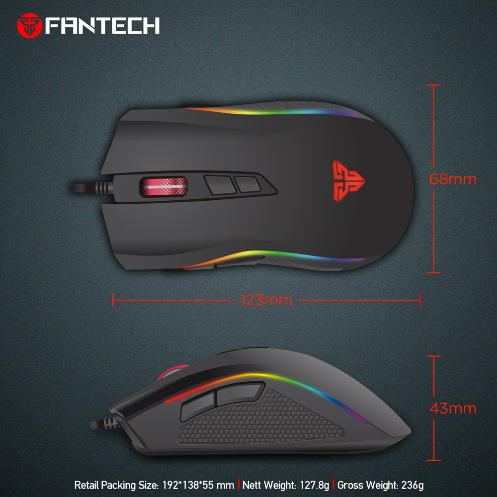 Fantech X4s 7200 Dpi 7 Button Mouse Gamer Gaming Multi Color Led Optical Wiring Diagram Usb Wired