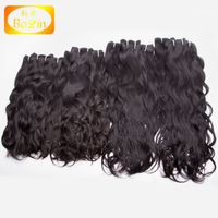 Wholesale 100 Human Hair Bundles Color 1B Natural Wave 8A Grade Cuticle Aligned Brazilian Hair