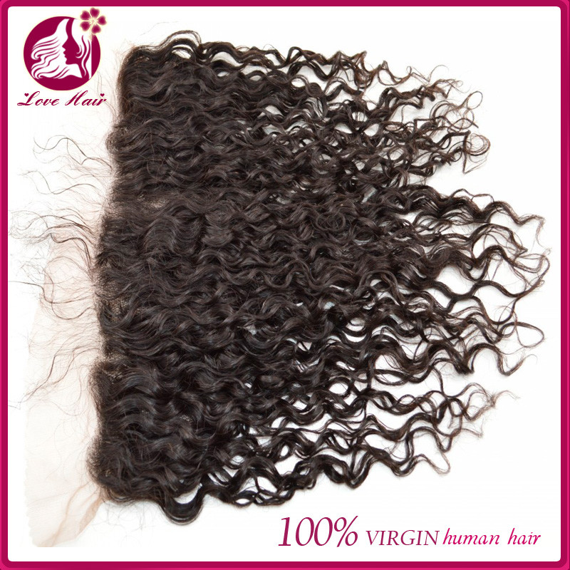 2016 Fashion style products virgin mongolian deep wave curl human hair side part blonde lace frontal closure with baby hair
