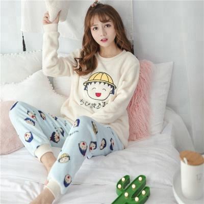 China Women Flannel Pajamas 8cc048b3f