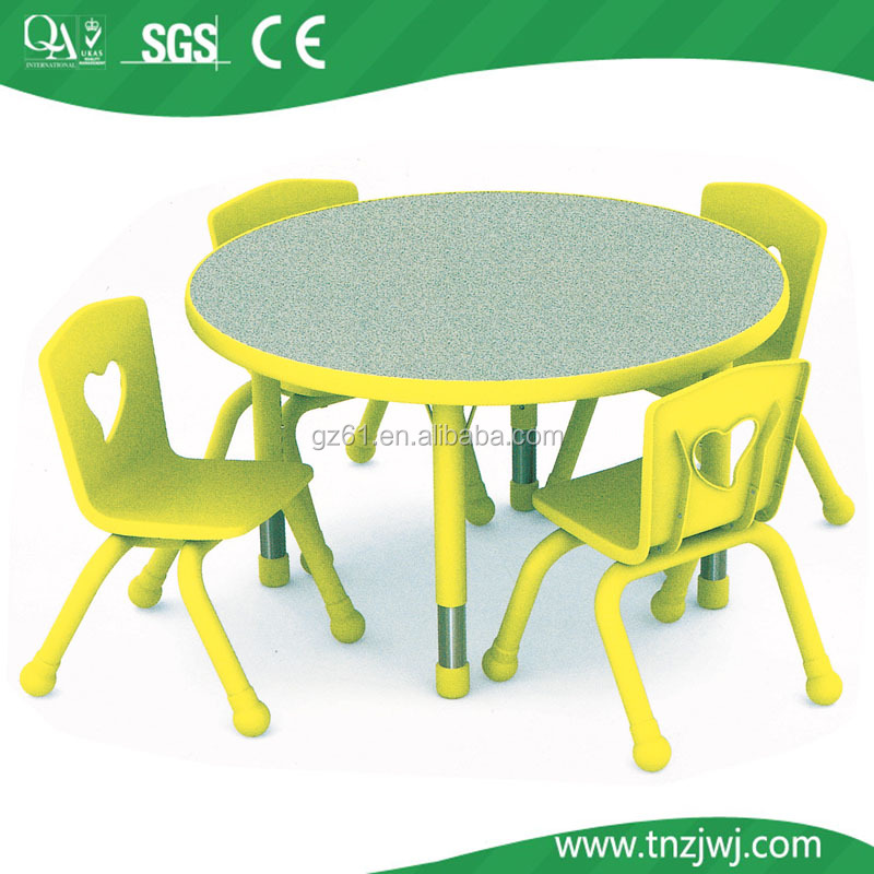 Good Material Plastic Colorful Children Study Table And Chair