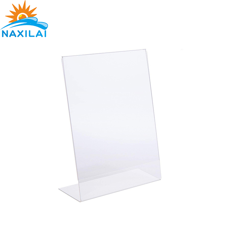 NAXILAI Slant Back Acrylic Sign Holder High Clear Acrylic Display <strong>Stand</strong> With 8.5 x 11 Inches Acrylic Display Holder