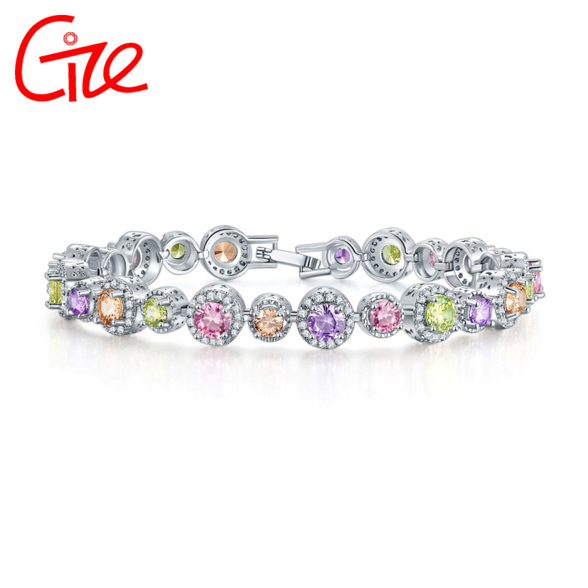 Wholesale jewellery colorful quartz bracelet bangles pulseras American valentine jewelry