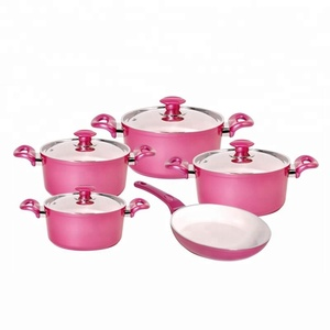 hot product 11pcs DESSINI cookware/ Die casting aluminum non-stick cookware sets