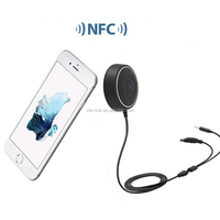 NEWEST 3.5mm Bluetooth 4.0 Hands Free Stereo with NFC Function AUX car kit Receiver Music Speakerphone