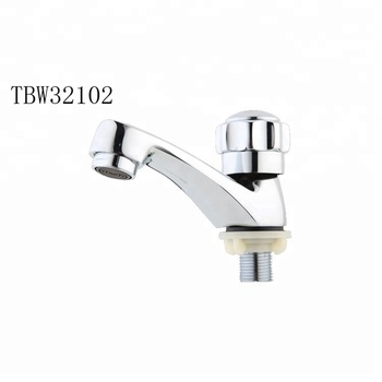 Water Saving Aerator Modern Brass Bathroom Faucet Set Cold Water