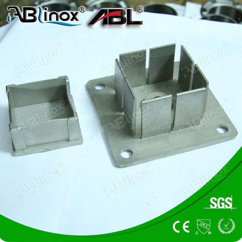 square pipe base fitting casting,cast iron casting