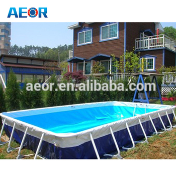 Large PVC Material Swimming Pool Portable Frame For Sale Used Metal