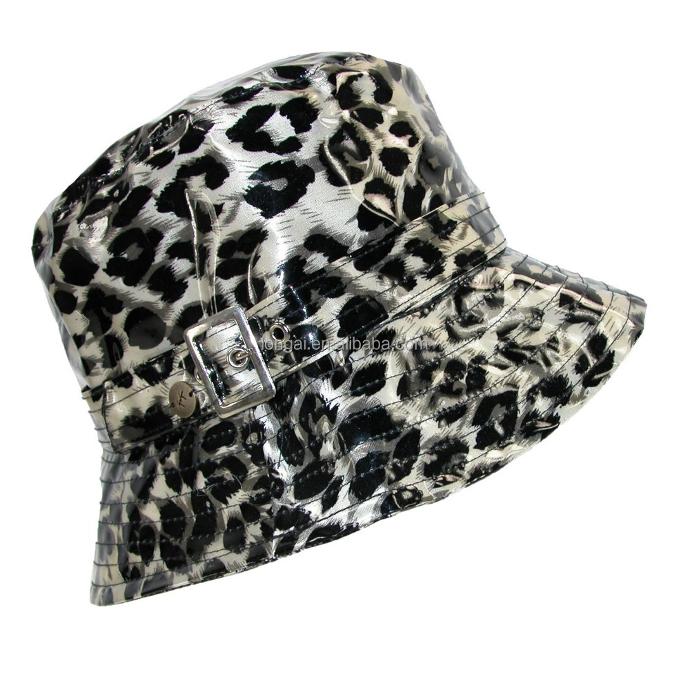 hotsell good quality fashion women customized allover print waterproof rain hat