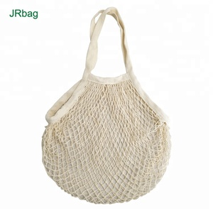 Recycle 100% Organic Cotton Mesh Bag For Apple Onions Potatoes Fruits Vegetables Packaging