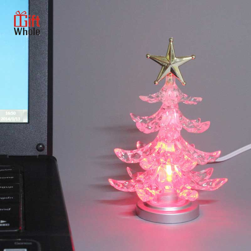 Professional design office christmas tree top star lights