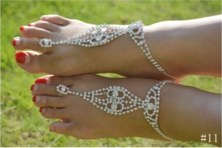 4807748d0f0937 Sexy rhinestone barefoot sandals Foot bracelet Beach foot jewelry with  pearl cross beads anklets for women