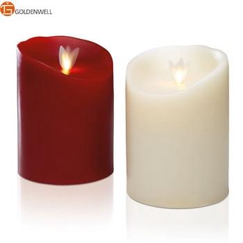 Luminara Moving Wick Led Christmas Candles In Burgundy - Buy ...