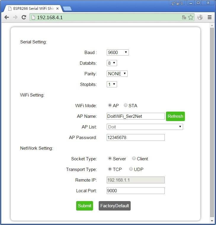 ESP8266 WiFi Web Server Shield NodeMCU New Version with ESP-13