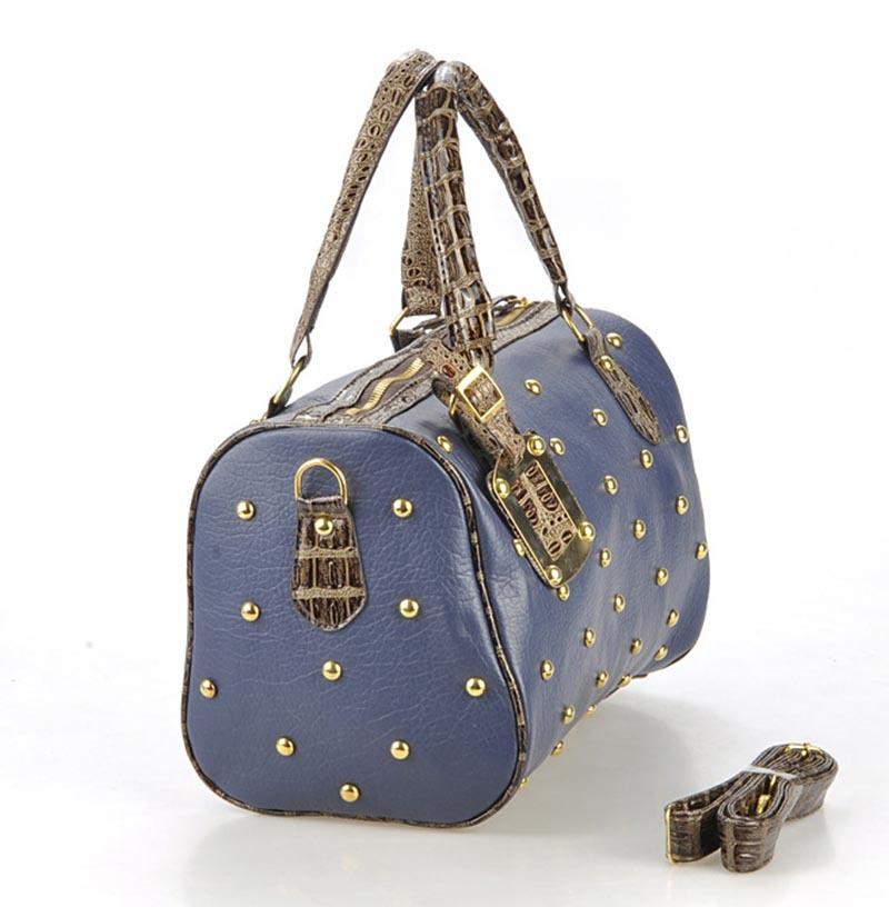 17ffc51c0032 Get Quotations · New 2015 Vintage Women Leather Handbag Summer Fashion  Rivet Tote Bag For Women Brand Design Shoulder