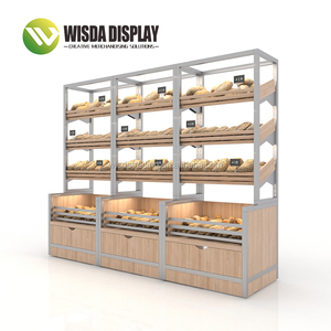 Bakery Display Cabinet Free Match Fashionable Wall bread Rack