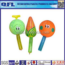 Inflatable mini hammer, pvc vegetable toy for child