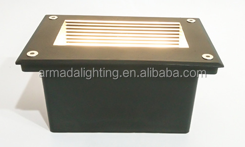 Ip65 High Bright Outdoor 6w Recessed Led Step Wall Light