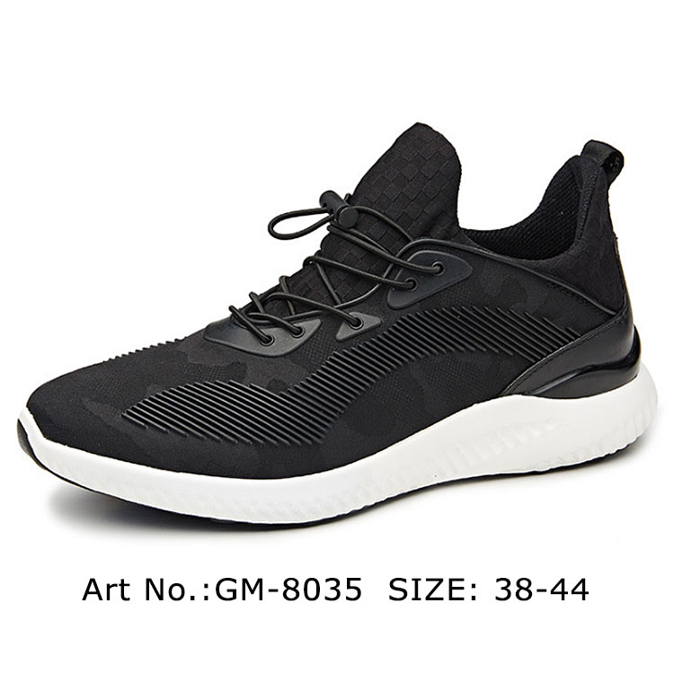 Wholesale Prices Custom Design Black Men Sports Shoe Running Shoes Directly Sale