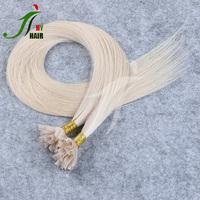 Wholesale 100% Virgin Brazilian Human U Tip Hair 8A Blonde 613/60 Keratin Pre-Bonded U Tip Hair Extensions For High-End Market
